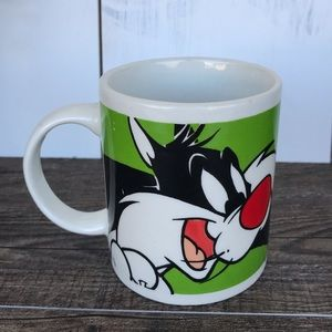 Sylvester Tweety Bird Warner Bros Mug Looney Tunes